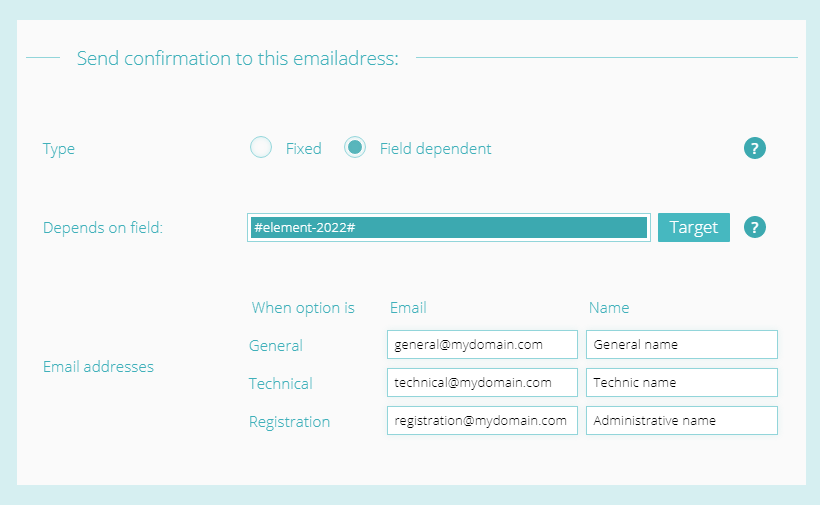 Advanced email delivery - settings